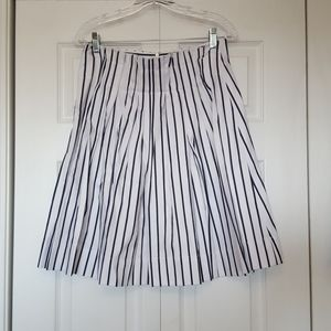 Kate Spade white and blue striped skirt size 8 NWT